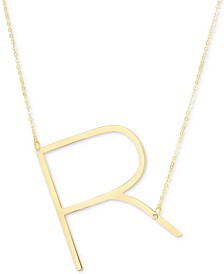 "Initial 18"" Pendant Necklace in 10k Gold"