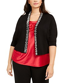Plus Size Embellished Shrug