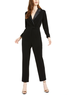 70s Prom, Formal, Evening, Party Dresses Bar Iii Tuxedo Jumpsuit Created For Macys $99.50 AT vintagedancer.com