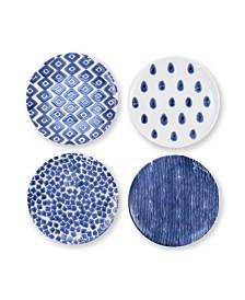 Vietri Santorini  Assorted Salad Plates - Set of 4
