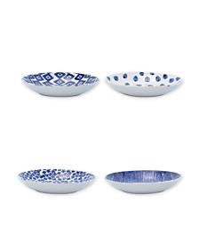 Vietri Santorini Assorted Pasta Bowls - Set of 4