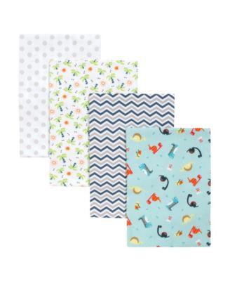Dinosaur Swaddle Blanket 4-Pack