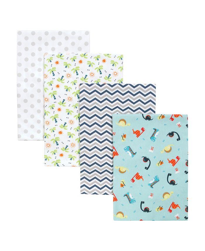 Trend Lab - Dinosaur Swaddle Blanket 4-Pack