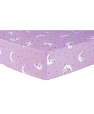 Unicorn Moon Flannel Crib Sheet