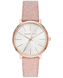 Women's Pyper Blush Swarovski® Crystal Leather Strap Watch 38mm