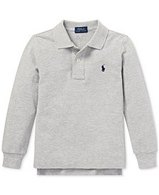 Toddler Boys Basic Mesh Knit Polo Shirt