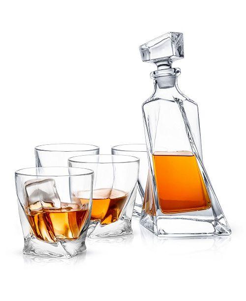JoyJolt Atlas Whiskey Decanter Set of 5