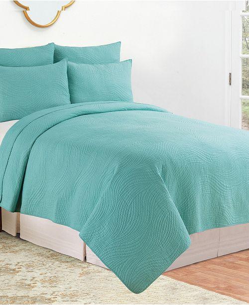 C & F Enterprises Inc C F Home Tranquil Waves Twin Quilt Set