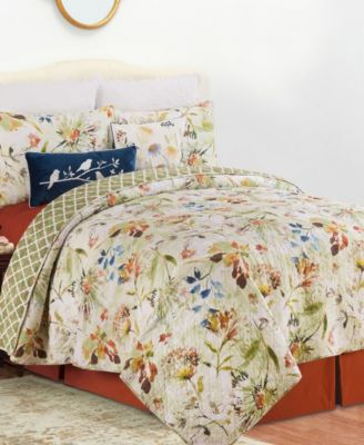 C F Home Watercolor Floral King Quilt Set