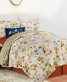 C F Home Watercolor Floral Full/Queen Quilt Set