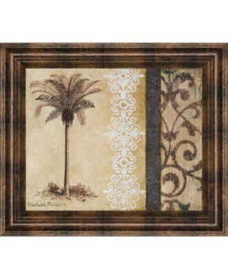 "Decorative Palm II by Michael Marcon Framed Print Wall Art, 22"" x 26"""