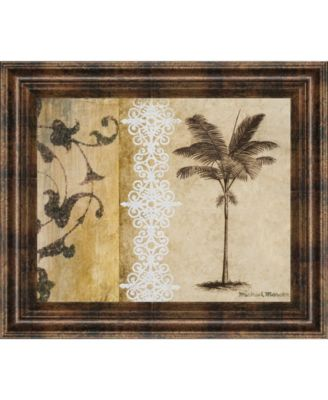 """Decorative Palm I by Michael Marcon Framed Print Wall Art, 22"""" x 26"""""""