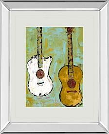 "Six Strings III by Deann Herbert Mirror Framed Print Wall Art, 34"" x 40"""