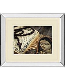 "Rosary in Bible by Kbuntu Mirror Framed Print Wall Art, 34"" x 40"""