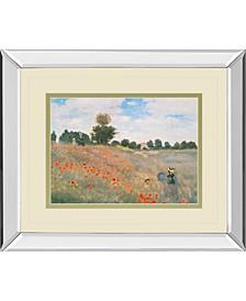 """Wild Poppies, Near Argenteuil by Claude Monet Mirror Framed Print Wall Art, 34"""" x 40"""""""