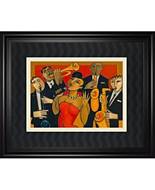 """The Diva and Her Horn Section by Marsha Hammel Framed Print Wall Art, 34"""" x 40"""""""