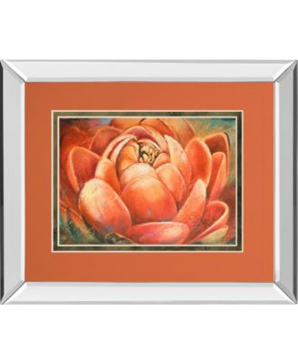 """Red Lotus II by Patricia Pinto Mirror Framed Print Wall Art, 34"""" x 40"""""""