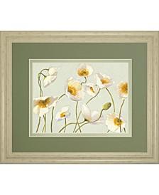 "White Bright Poppies by Novak Framed Print Wall Art, 34"" x 40"""