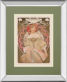 "Reverie, 1897 by Alphonse Mucha Mirror Framed Print Wall Art, 34"" x 40"""