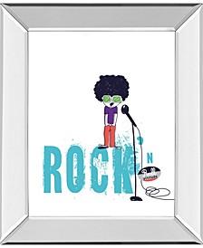 "Rock and Roll by Laure Girardin Vissian Mirror Framed Print Wall Art, 22"" x 26"""