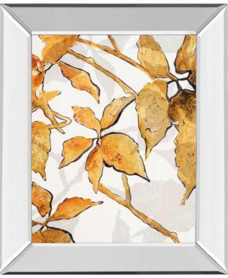 "Gold Shadows I by Patricia Pinto Mirror Framed Print Wall Art, 22"" x 26"""