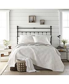 Wedding Ring Quilted 3 Piece Quilt Set - King