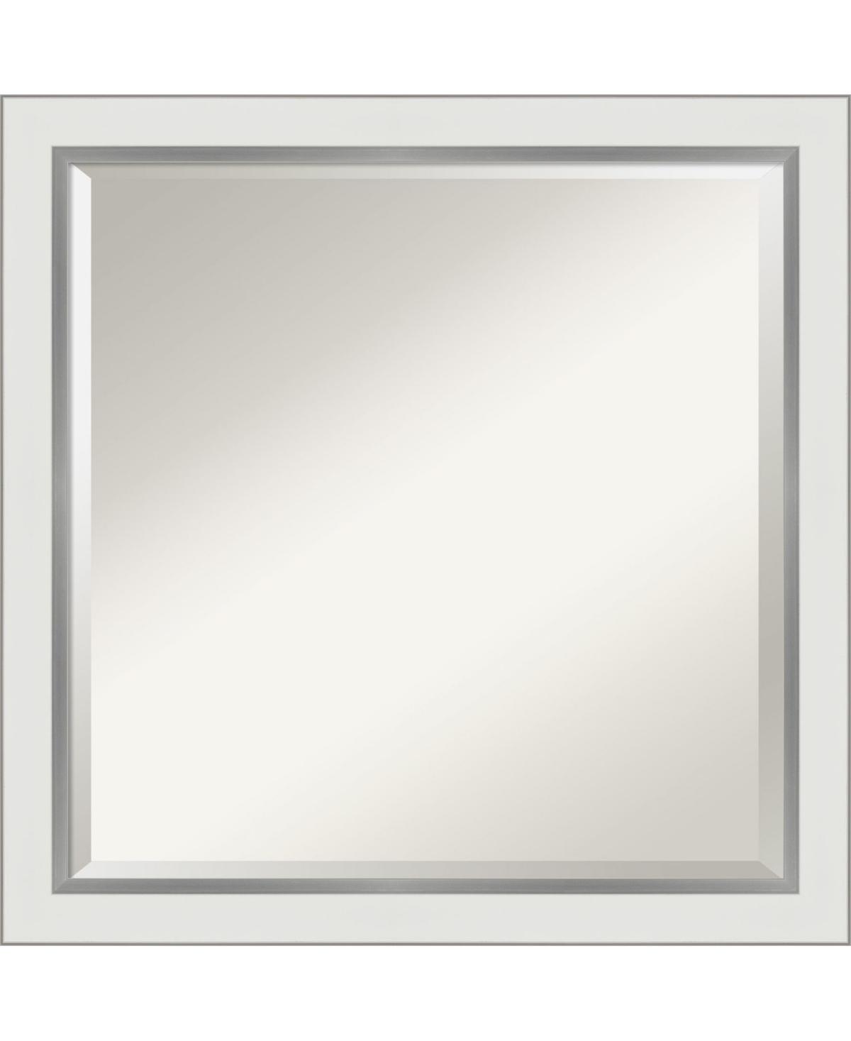 Amanti Art Eva Silver-tone Framed Bathroom Vanity Wall Mirror, 23.12