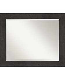 "Rustic Plank Framed Bathroom Vanity Wall Mirror, 33.38"" x 27.38"""