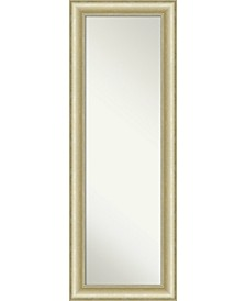 "Textured Light Gold-tone on The Door Full Length Mirror, 19"" x 53"""