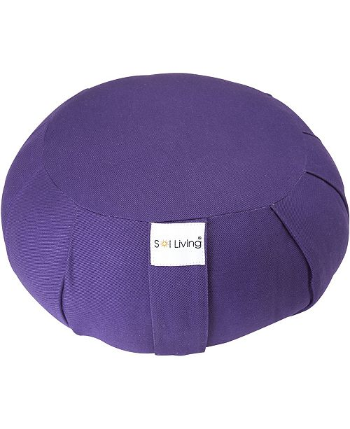 Sol Living Cotton Yoga Zafu Meditation Cushion