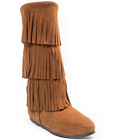 3-Layer Fringe Narrow Boot