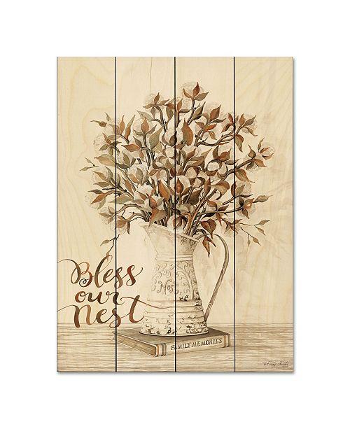 "Courtside Market Bless Our Nest Cotton Bouquet 12"" x 16"" Wood Pallet Wall Art"