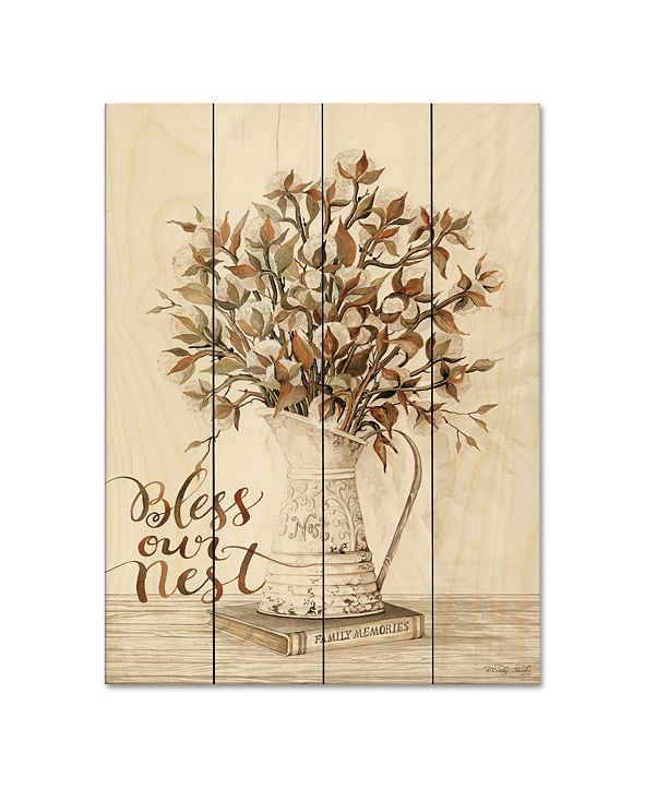 "Courtside Market Bless Our Nest Cotton Bouquet 12"" x 16"" Wood Pallet Wall Art"