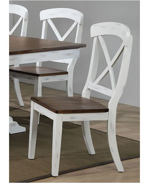 ICONIC FURNITURE Company Transitional X-Back Dining Chairs, Set of 2