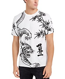 Men's Asian Tiger Embroidered T-Shirt