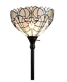 Tiffany-Style Torchiere Floor Lamp