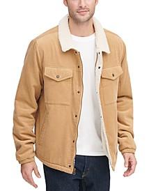 Men's Fleece-Lined Corduroy Trucker Jacket