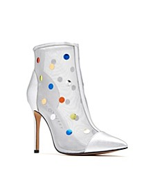 The Jeffree Embellished Mesh Booties