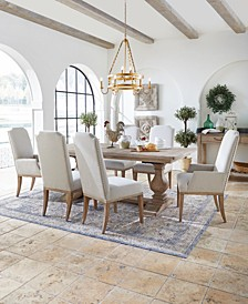 Rachael Ray Monteverdi Dining 7-Pc. Set (Table, 4 Upholstered Side Chairs & 2 Upholstered Arm Chairs)