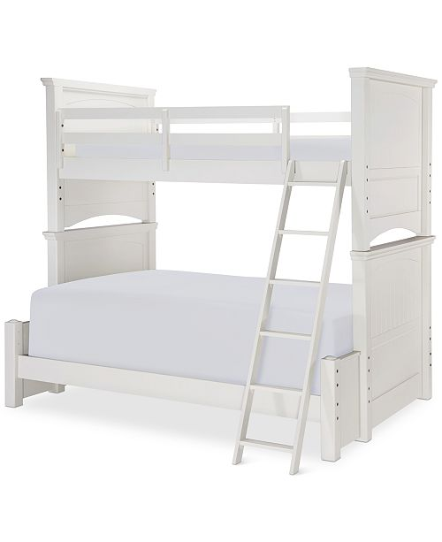 Furniture Summerset Twin over Full Bunk Bed with Underbed Storage Drawer