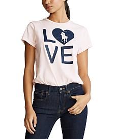 Polo Ralph Lauren Women's Pink Pony Graphic Jersey T-Shirt