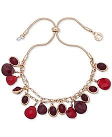 Gold-Tone Stone Slider Bracelet