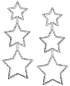 Pavé Star Triple Drop Earrings
