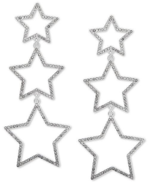 DKNY Pavé Star Triple Drop Earrings