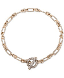 "Gold-Tone Pavé Crystal 17"" Toggle Collar Necklace"