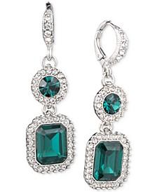 Pavé & Stone Double Drop Earrings
