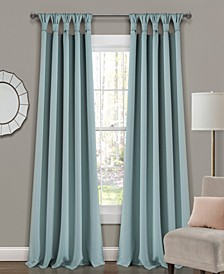 "Lush Decor Knotted Tab Top 52"" x 95"" Blackout Curtain Set"