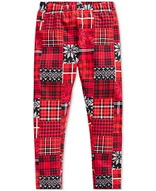 Little Girl's Patchwork Plaid Stretch Jersey Legging