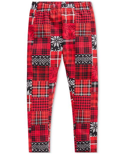 Polo Ralph Lauren Little Girl's Patchwork Plaid Stretch Jersey Legging