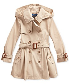 Toddler Girl's Water-Repellent Trench Coat